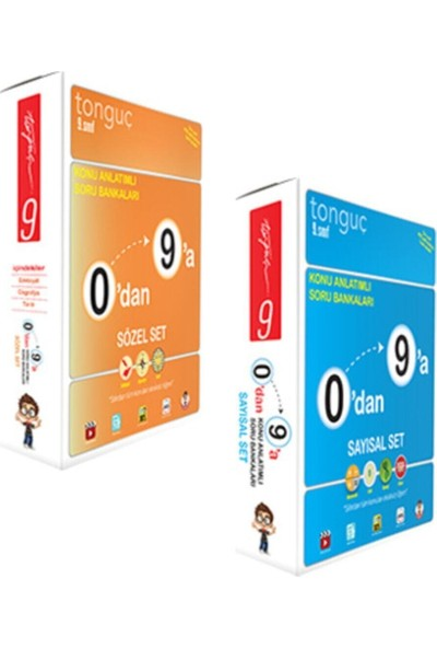 Tonguç Akademi 9. Sınıf 0'dan 9'a Sayısal Sözel Set