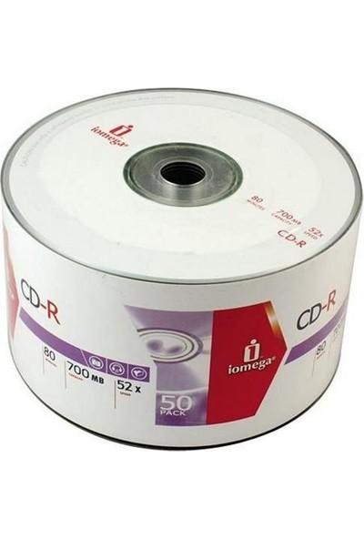 Iomega Boş CD-R 52X50'Li Spindle Boş CD