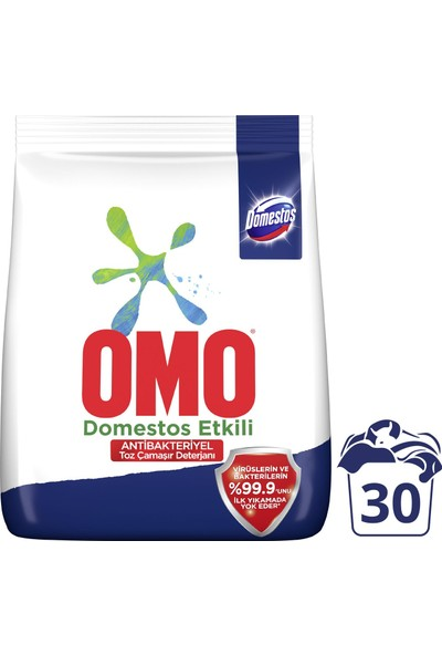 Omo Domestos Etkili Antibakteriyel Toz Çamaşır Deterjanı 4,5 kg 30 Yıkama