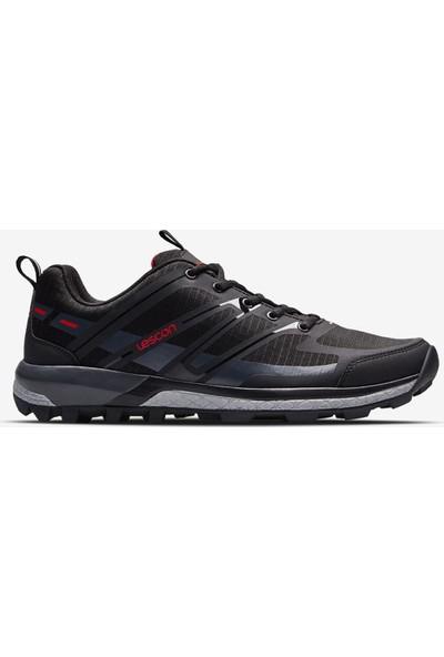 Lescon Trail Axis Siyah Yürüyüş Koşu Erkek Spor Ayakkabı