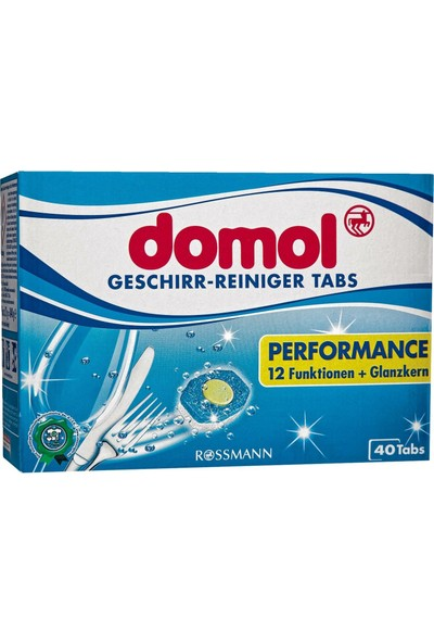 Domol Bulaşık Makinesi Tableti Multi Performans 40'lı