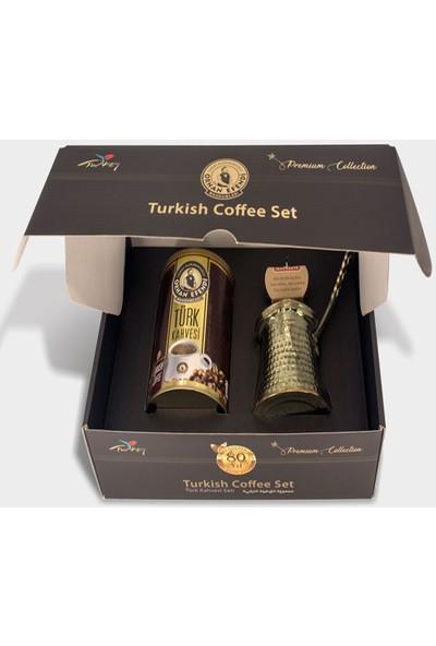 Altın cezve Collection Cezveli Türk Kahvesi Seti 250 gr