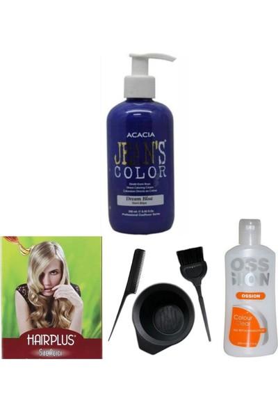Acacia Saç Boyası Mavi Rüya 250 ml , Saç Açıcı, Boya Temizleyici ve Boya Seti