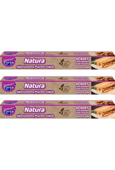 Parex Natura 3 Paket Ağartılmamış Hazır Kesilmiş Pişirme Kağıdı 10'lu