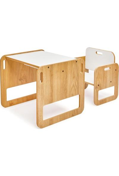 Minera 0-2 Yaş Serçe Montessori Çocuk Oyun, Çalışma, Aktivite Masası ve Sandalyesi