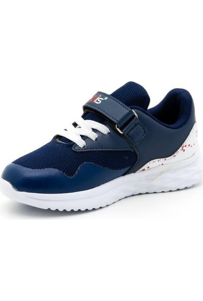 Noxis Force Günlük Erkek Çocuk Yürüyüş ve Spor Ayakkabısı Lacivert 32
