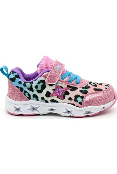 Noxis Dance Işıklı Kız Çocuk Yürüyüş ve Spor Ayakkabısı Pembe 25