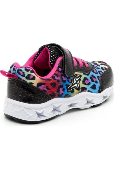 Noxis Dance Işıklı Kız Çocuk Yürüyüş ve Spor Ayakkabısı Siyah 25