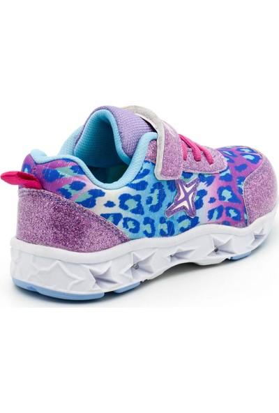 Noxis Dance Işıklı Kız Çocuk Yürüyüş ve Spor Ayakkabısı Lila 25