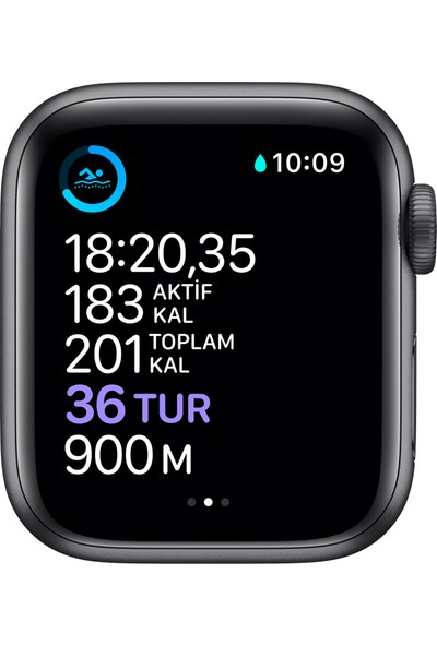 Apple Watch Seri 6 40mm GPS Space Gray Alüminyum Kasa ve Siyah Spor Kordon MG133TU/A