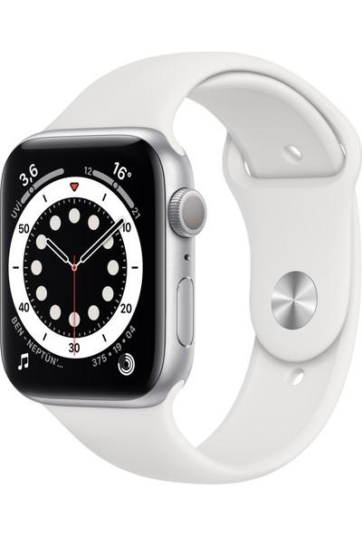Apple Watch Seri 6 40mm GPS Silver Alüminyum Kasa ve Beyaz Spor Kordon MG283TU/A