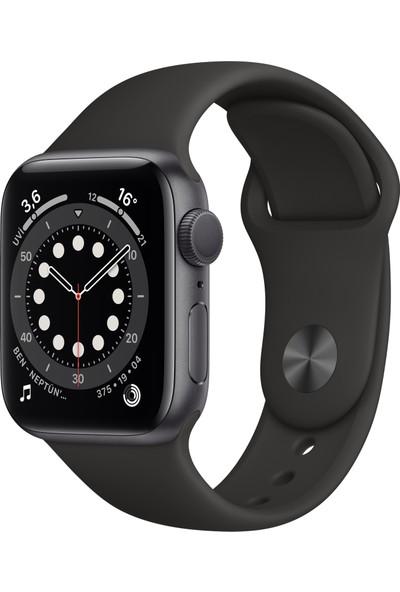 Apple Watch Seri 6 44mm GPS Space Gray Alüminyum Kasa ve Siyah Spor Kordon M00H3TU/A