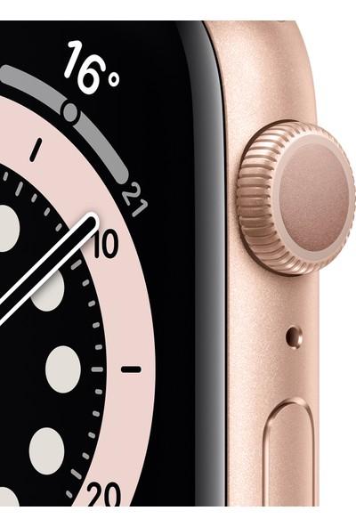 Apple Watch Seri 6 44mm GPS Gold Alüminyum Kasa ve Kum Pembesi Spor Kordon M00E3TU/A