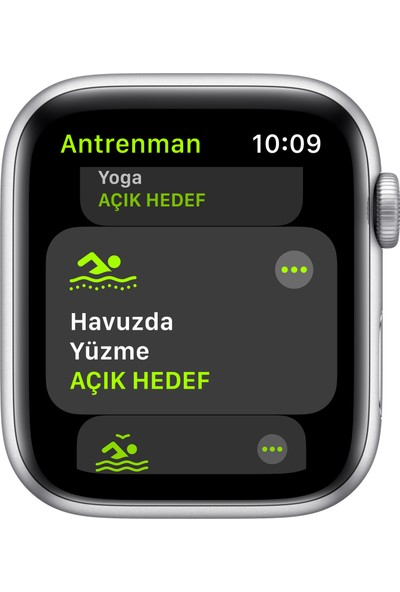 Apple Watch SE 44mm GPS Silver Alüminyum Kasa ve Beyaz Spor Kordon MYDQ2TU/A