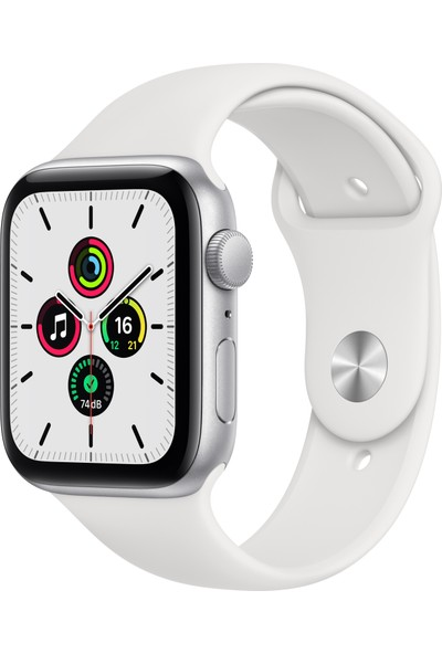 Apple Watch SE 40mm GPS Silver Alüminyum Kasa ve Beyaz Spor Kordon MYDM2TU/A