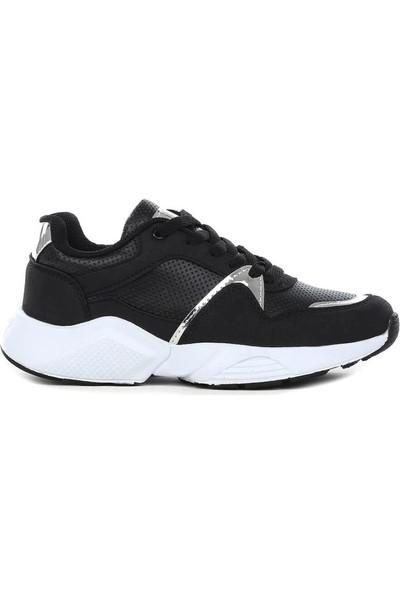 Coollest 001 Siyah Bağcıklı Kadın Spor Ayakkabı 202046