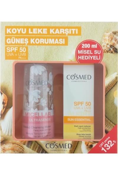 Cosmed Sun Essential High Protection Cream Spf50 50 Ml - Koyu Leke Karşıtı - Misel Su 200 Ml Hediye