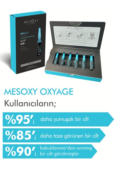 Mesoxy Oxyage   Nem Bombası, Kırışıklık Serum & 2Ml x 6 Ampul