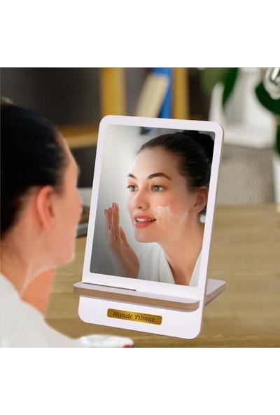 İsme Özel Dekoratif Özel Tasarım Ahşap Masa Makyaj Aynası