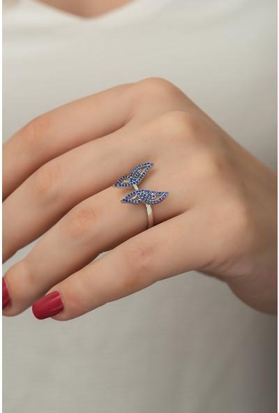 Gusto Silver Kelebek Yüzük