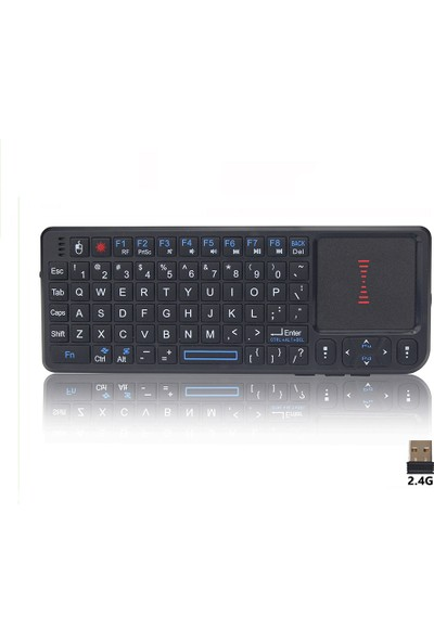Techstorm Laser Türkçe Kablosuz Universal Mini Klavye ve Touchpad