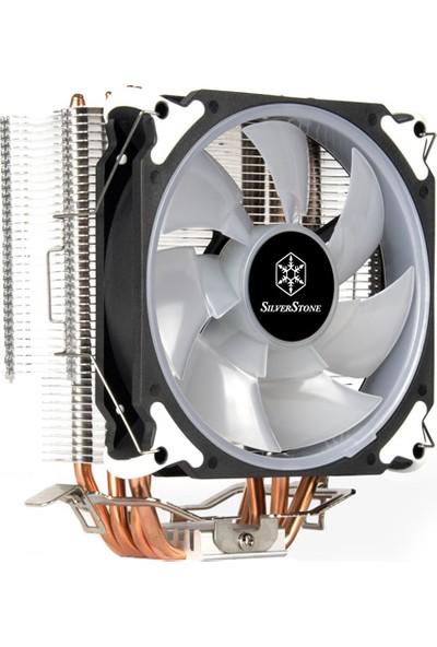 SilverStone AR12-RGB Intel & AMD Uyumlu, 4pin RGB PWM Fanlı, Kule Tipi İşlemci Soğutucu (SST-AR12-RGB)