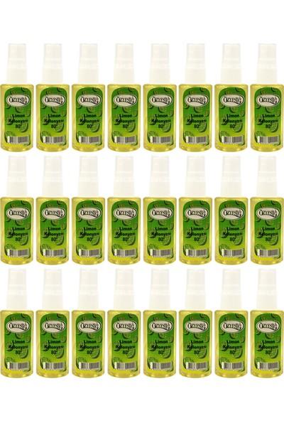 Özyeşil Limon Kolonyası 80°c Sprey 50 ml x 24 Adet