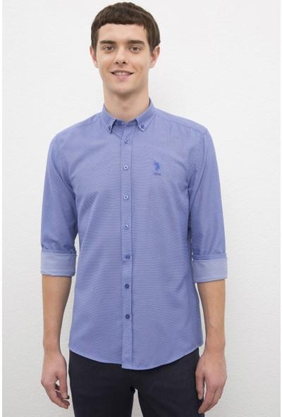 U.S. Polo Assn. Erkek Mavi Gömlek Uzunkol 50231349-VR045