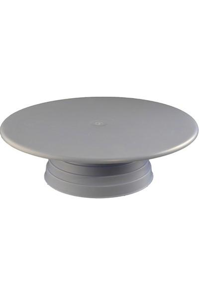 Cesil Plastik Döner Pasta Sıvama Standı 32 cm - Beyaz