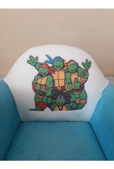 Nesil Kanepe Çocuk Koltuğu - Ninja Kaplunbağalar Desenli