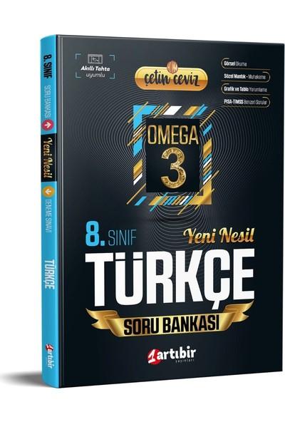 Artıbir Yayınları Çetin Ceviz Omega 3 8. Sınıf Türkçe Yeni Nesil Soru Bankası