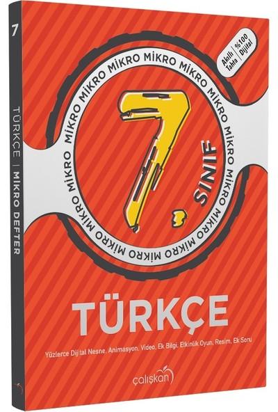 Çalışkan Yayınları 7. Sınıf Türkçe Mikro Defter