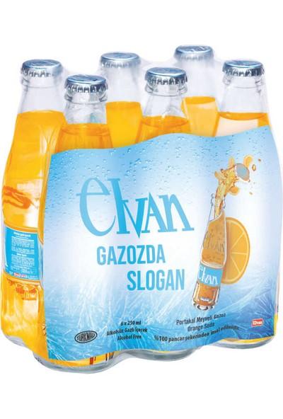 Elvan Gazoz Portakallı 250 ml 6'lı