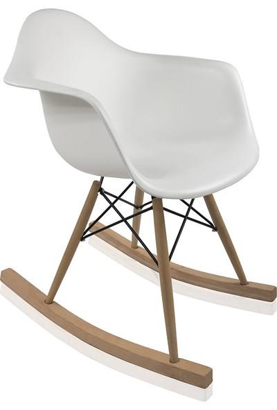 Dorcia Home Lisa Sallanır Sandalye Beyaz