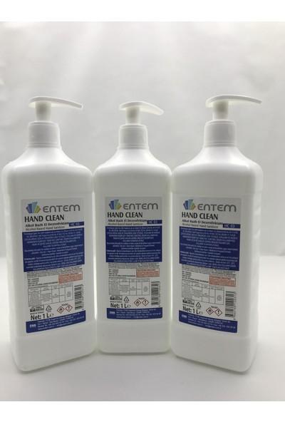 Entem Hand Clean Dezenfektan 1 lt x 3