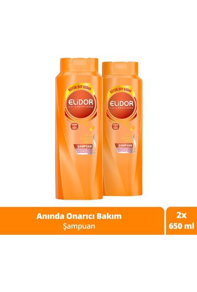 Elidor Anında Onarıcı Bakım Saç Bakım Şampuanı 650 ml x 2 Adet