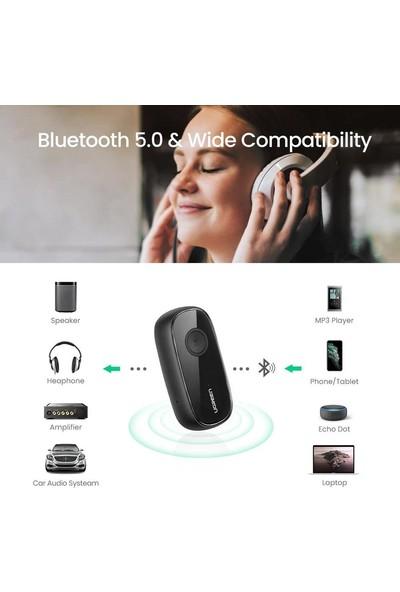 Ugreen Mikrofonlu Aux Bluetooth 5.0 Aptx Araç Kiti