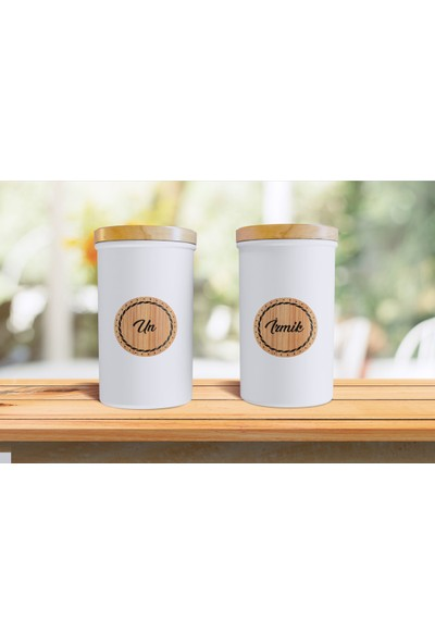 Matbaas Bambu Mutfak Baharat ve Bakliyat Kavanoz Sticker -60 Lı Etiket