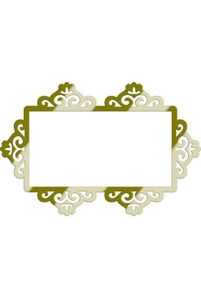 MB53 Dekoratif Aynalı Priz Süsü Çiftli
