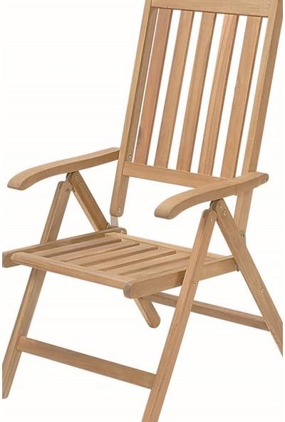 Externo 2 Adet Newburry Katlanır Kollu 5 Kademeli Sandalye
