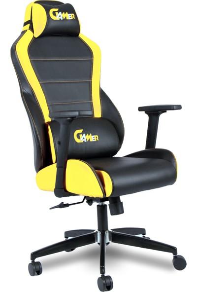 Gamer Alp Sarı Siyah Oyuncu Koltuğu