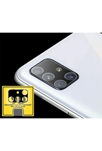 Ally Samsung Galaxy A71 Hd 3D Full Tempered Cam Kamera Koruyucu AL-32908
