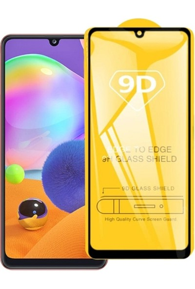 Ally Samsung Galaxy A31 9D Full Glue Tempered Cam Ekran Koruyucu AL-32932