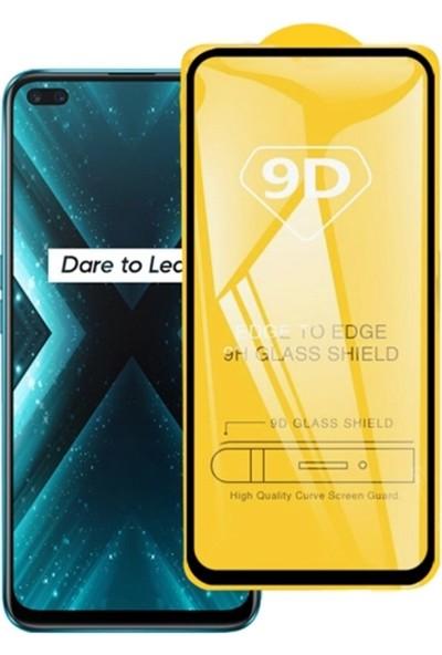 Ally Oppo Realme 6 Pro 9D Full Glue Tempered Cam Ekran Koruyucu AL-32944