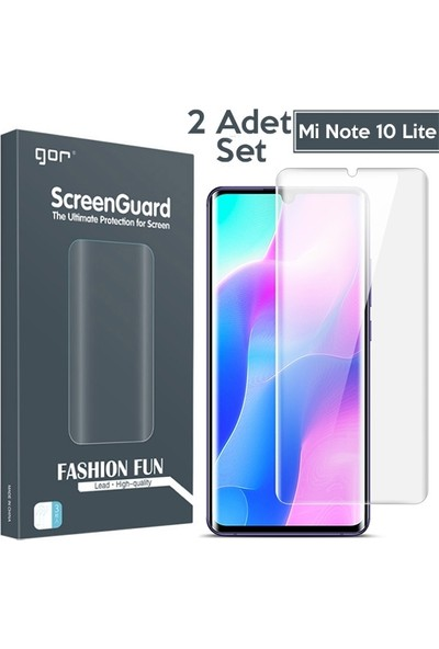 Ally Gor Xiaomi Mi Note 10 Lite 3D Kavisli Darbe Emici Full Ekran Koruyucu 2 Adet Set AL-32715