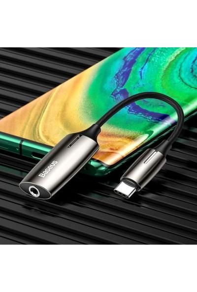 Baseus L60S Hızlı Şarj 2-In-1 Type-C To 3.5mm Kulaklık ve Şarj Dönüştürücü Başlık