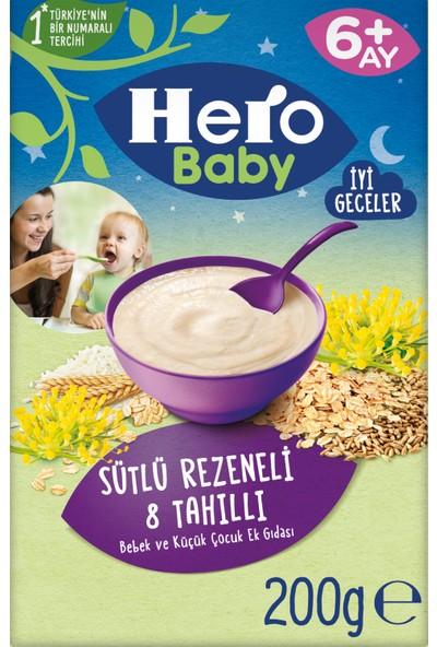 Hero Baby Sütlü Rezeneli 8 Tahıllı Kaşık Mama ve Prebiyotikli Çilekli Yoğurtlu Kavanoz Mama Ek Besin Paketi