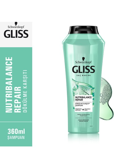 Gliss Nutribalance Repair Şampuan 360 ml