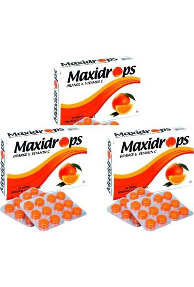 Maxidrop Portakal & C Vitamini Boğaz Pastili - 3'lü