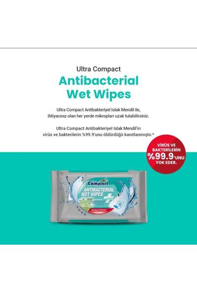 Ultra Compact Antibakteriyel Islak Havlu Mendil 100 x 12'li 1200 Yaprak